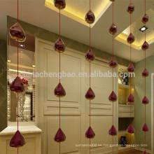 Partido de cristal decorativo rebordeado cortinas de ventana para la Navidad