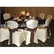 Couverture de chaise de polyester d'ammoniaque, couverture de chaise de Lycra / Spandex