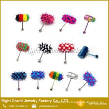 Silicona colores moda vibrante lengua barra joyería