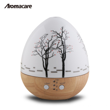 Aromacare Hot Product Mini Egg Wood 150ml Wooden Glass Aroma Diffuser 20071