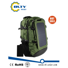 Army Green Polyester Hiking Solar Backpack 6.5W 6V Solar Bag