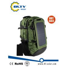 Exército verde poliéster caminhadas solar mochila 6.5W 6V solar saco