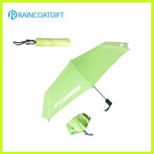 Promotion 21 '' * 8k Aluminium Schaft gedruckt Custom Folding Regenschirm für Geschenk