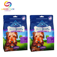 Custom Percetakan Flat Bottom Pet Food Pouches