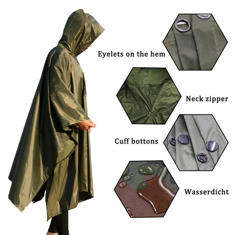 Outdoor Waterproof Raincoat Rain Coat Men Raincoat Women Awning From The Rain Motorcycle Rain Poncho Picnic Mat4