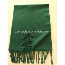 blend 50% cashmere 50% wool medium plain green scarf