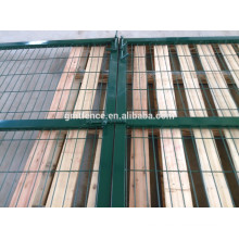 galvanized single gate round post