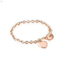Dubai Diamond Armreif 14 K Edelstahl vergoldet Herzform Armband