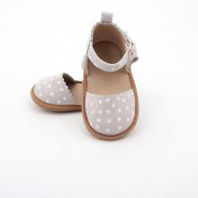 Zapatos de bebé al por mayor de Mary Jane del cuero del ante