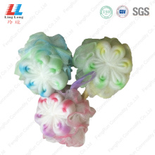 Mixture style flower sponge ball bathing