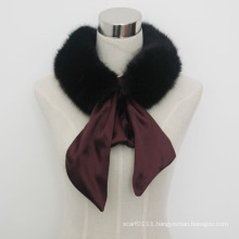 Lady Fashion Faux Fur Scarf with Satin Strap (YKY4341)
