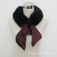 Леди мода шарф из искусственного меха с атласной лентой (YKY4341)