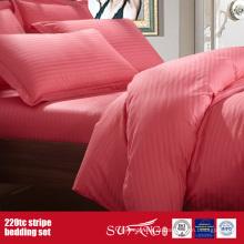 100% Algodão 220TC Satin 1cm Stripe Bed Linen