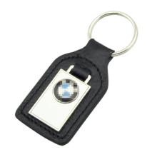 Kundenspezifisches Metall PU-Leder BMW Schlüsselbund mit Logo (F3049)