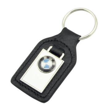Promoção metal PU couro BMW chaveiro com logotipo (f3049)