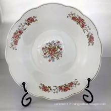 assiette en porcelaine de linyi, assiette en céramique chinoise, assiette à soupe