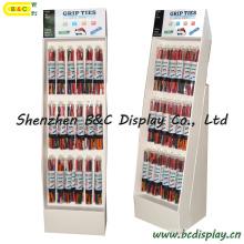 Affichage de plancher de lien d'engrenage de silicone, présentoir en carton, présentoir de papier de crochets (B & C-B040)
