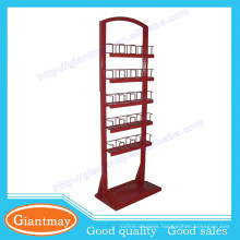 multi-pocket flooring canned food display rack for peg shop