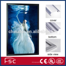 Best price aluminum profile light box plastic material