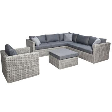 Salón sofá de la rota de mimbre de jardín Patio muebles al aire libre del sistema