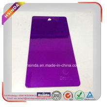 Высокая Лоснистая Люминесцентные Конфеты Фиолетовый Прозрачным Покрытием Порошка