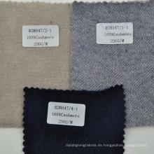 Tejido de cachemira 100% mongol de handfeeling suave para la ropa