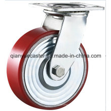 Industrial Caster, PU on Cast Iron Caster Whel, Heavy Duty Caster