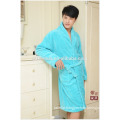 Super Soft Bright Blue Coral fleece bathrobe for Mens