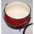 Esmalte de hierro fundido Sudáfrica Pot Potjie con tres patas