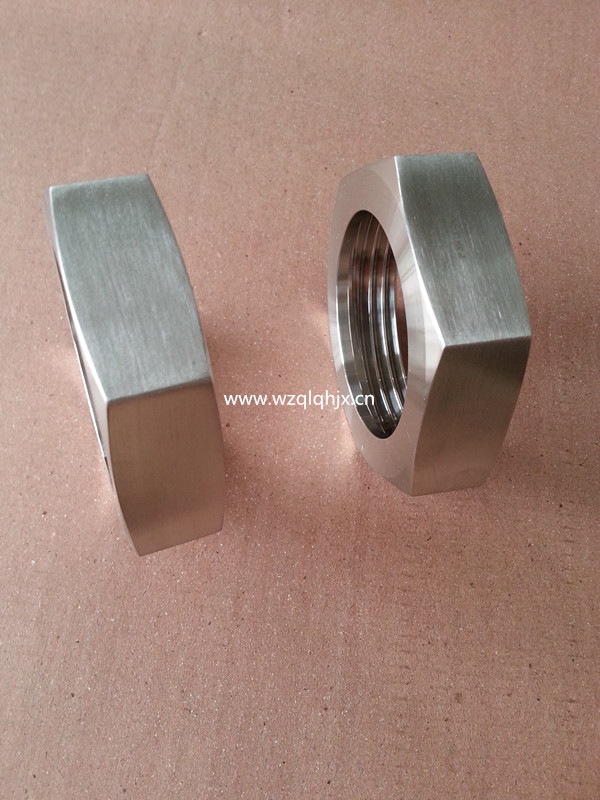 Sanitärt rostfritt stål Fitting Hex Union Nut