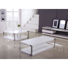 Modern high gloss white finishing MDF coffee table