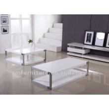 Самомоднейшего высокого лоска белой отделкой МДФ журнальный столик