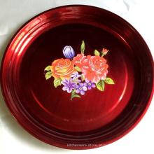 Placa de aço inoxidável dos doces da fruta da antiguidade 18inch do estilo chinês para o casamento