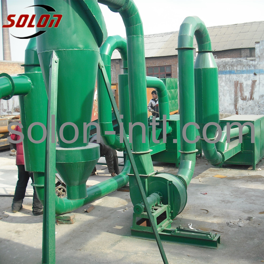 Vertical wood pallet block sawdust mixer