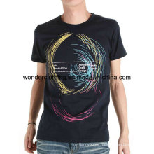 Benutzerdefinierte Großhandel Baumwolle Fashion Design Screen Printed Sommer Mann T-Shirt