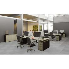 Moderna mesa de escritorio de oficina de escritorio de espacio abierto con partición de pantalla (HF-JND04)