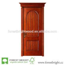 Rustikale Holztür des neuen Designs mit gewölbter Spitze