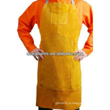 Avental protetor de soldadura de couro