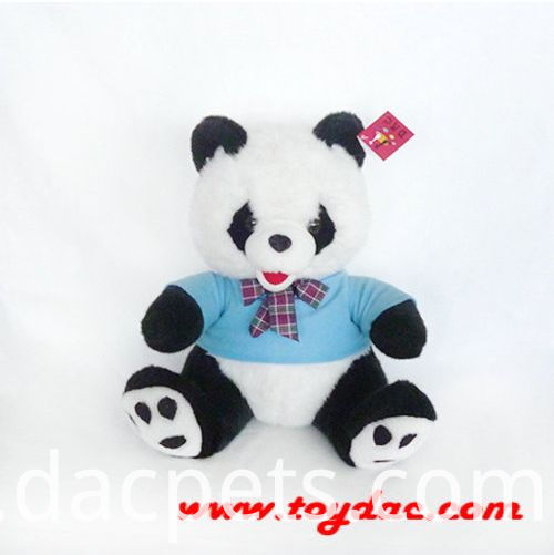 panda with blue t-shirt