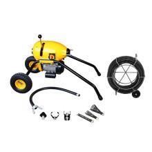 S200 limpador de dreno de fio elétrico móvel com rodas grandes, design robusto