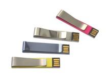 Berkualiti tinggi klip logam USB Flash Disk dengan Logo yang disesuaikan!
