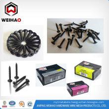 carbon steel black drywall screw