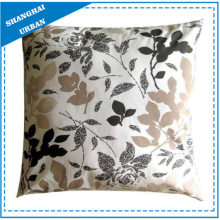 Vintage Leafs Printed Polyester Throw Pillow