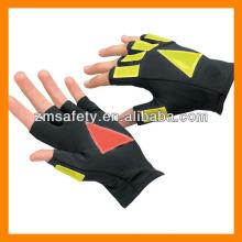 Половина палец Отражательный трафика перчатки ZJM134