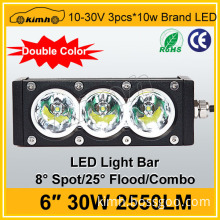 6inch Amber color offroad light bar 30W 2550LM