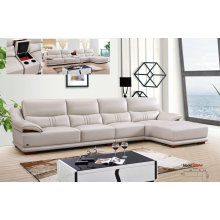 Canapé meubles ensemble, Sofa en cuir véritable, L forme Sofa en cuir (650)