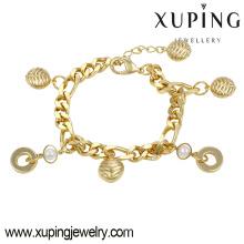 74324 moda elegante 14k banhado a ouro mulheres imitação jóias pulseira com pérolas