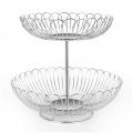 Multifunctional and practical stainless steel mesh fruit basket  metal bowl  fruit basket
