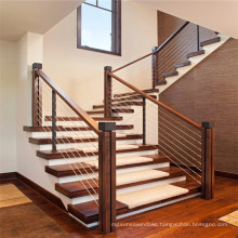 China decoration indoor home rubber wood straight staircase model