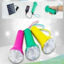 Factory Supply Ebst-D10A LED Outdoor Mini Solar Camping Flashlight